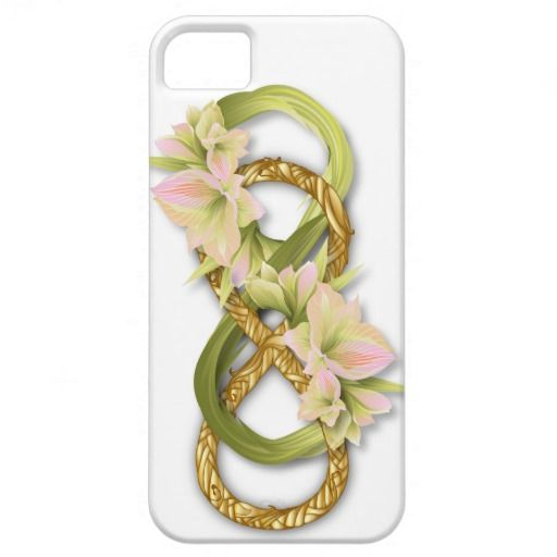 Double Infinity Gold & Pink Cowlily - iPhone 1 #doubleinfinity #gold #cowlily #flower #love