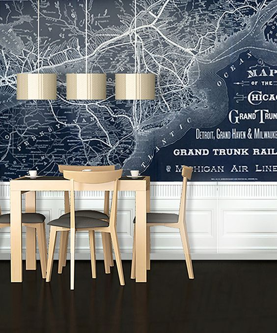 Cool wall map! Take a look at this Blackout 1887 Chicago Railway Map Adhesive Print on zulily today!