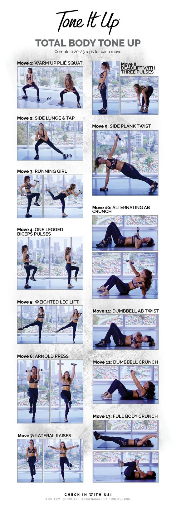 total body tone up workout