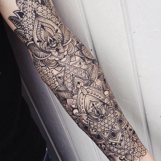Meticulously Stippled Ornamental Tattoos by Jessica Kinzer | Illusion Magazine