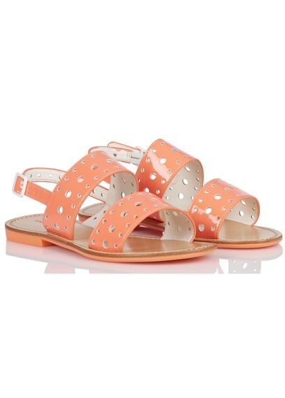 Sandales vernies avec perforations Vadina Orange by MELLOW YELLOW