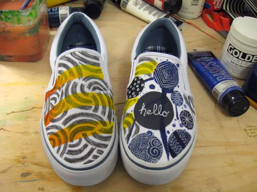 shoe art DIY