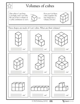 Worksheets Volume Counting Cubes Worksheet count cubes and student on pinterest great for beginners volume worksheet