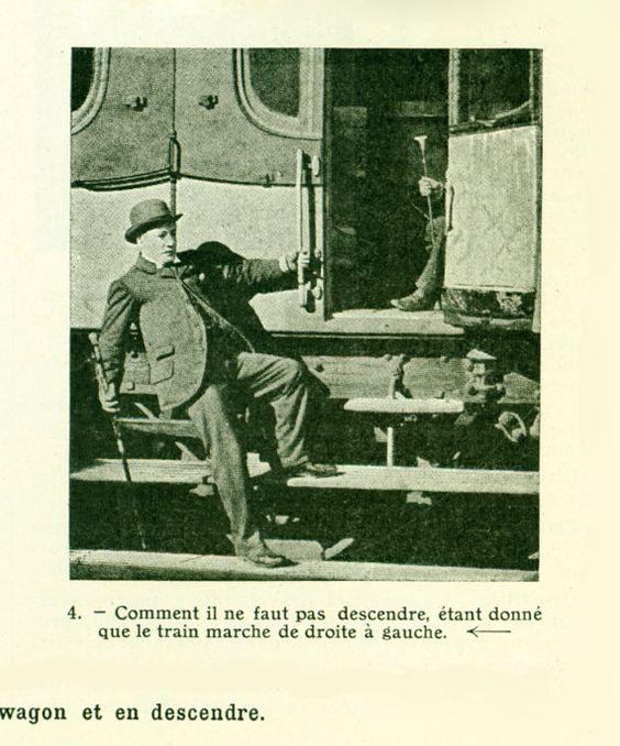1912 Photo Ancienne Train Gare Wagon Planche originale Larousse  decor vintage 105 ANS D'AGE