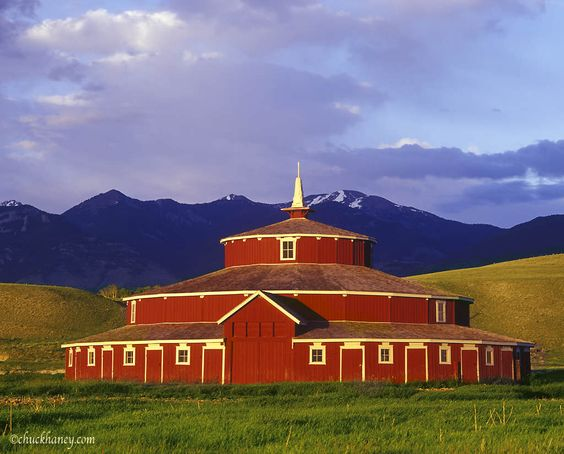 Round barn along the High Line in Montana.