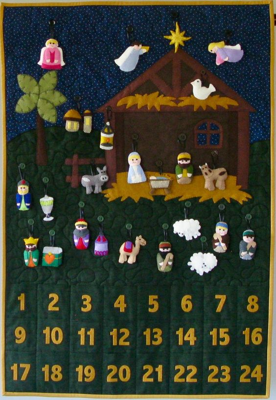 Nativity Advent Calendar Nativity Felt Advent Calendar | Etsy