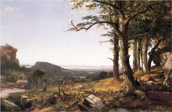 'Sportsmen Nooning', Oil On Canvas by Jasper Francis Cropsey (1823-1900, United States)