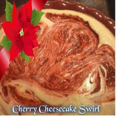 Cherry cheese cake swirl~ #cherrycheesecake #cheesecake #recipes