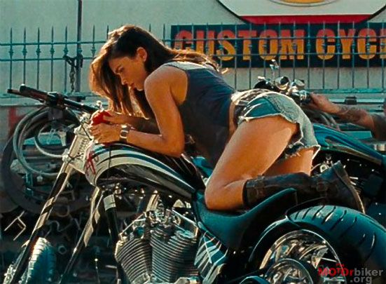 Megan Fox And A Ducati Motorcycle/Transformers 2