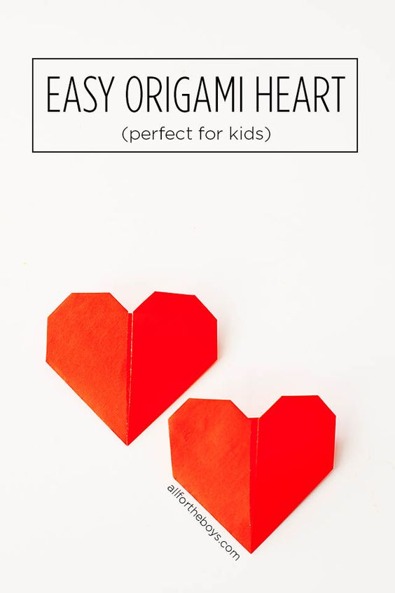 origami valentine heart and crafts for kids on pinterest