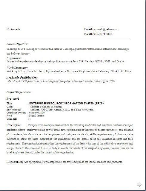 academic cv format download