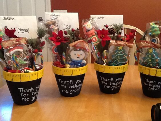Thanks for helping me Grow | 20 + DIY Christmas Gifts for Teachers From Kids: