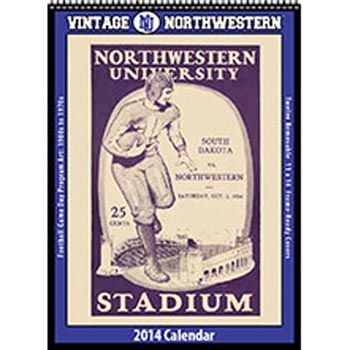 2014 Vintage Northwestern Wildcats Football Calendar