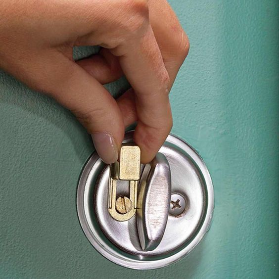"Pick-Proof Your Dead Bolt - Even amateur thieves can pick a lock. To hold the dead bolt firmly in place so the door can't open, install the SIMLock (thesimlock.com). Replace a dead bolt screw with SIMLock's special screw, then slide the ""lock"" over it to keep the dead bolt from turning. This product only works on dead bolts that lock in the vertical position.thesimlock.com"