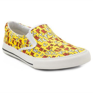 Bucketfeet-Canvas Slip-On Women Red/Yellow  by Aaron Firestein