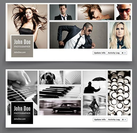 Facebook Timeline Cover - Image Collage Facebook Cover Template ...
