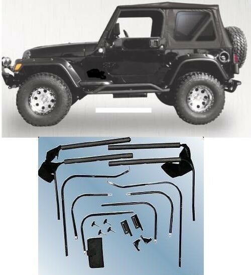 Rampage Complete Soft Top Hardware Kit 1976 1995 68035 For Jeep Wrangler Cj 7 Jeep Cj7 Jeep Wrangler Jeep