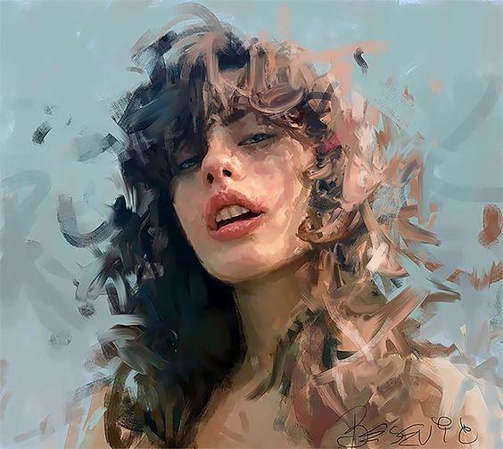 Los delicados trazos en las sensuales pinturas de Ivana Besevic