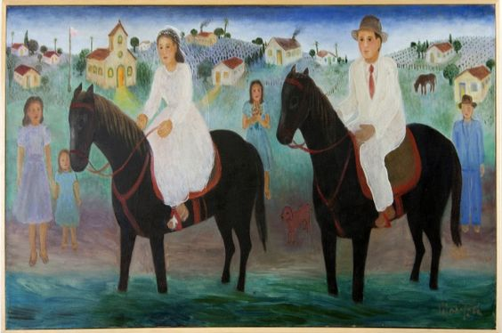 "Marisia Portinari, ""Casamento"" - ost. - med. 50 x 100"