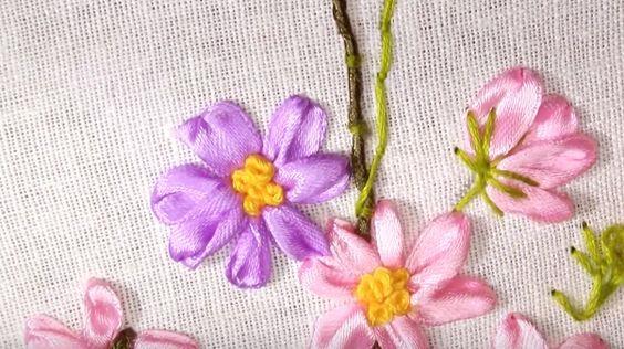 Tutorial: Borduren met zijde lint    Knipmode
