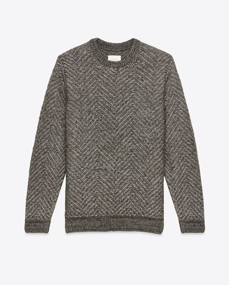 H15 103.1548.ch billy reid herringbone crew pullover charcoal 1