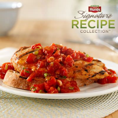 Hunt's® Bruschetta Chicken Grill Chicken, marinated in balsamic ...