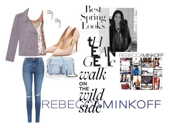 """""""What to Wear- Rebecca Minkoff Style"""" by shining-lotus ❤ liked on Polyvore featuring Rebecca Minkoff, H&M, STELLA McCARTNEY, Topshop, Rupert Sanderson, women's clothing, women, female, woman and misses"""