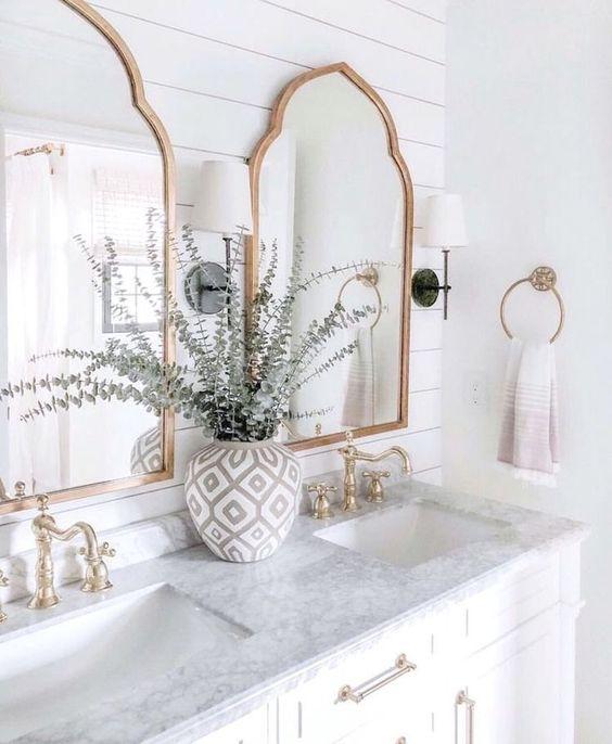 White marble bathroom inspiraton #decoration #bathroominspo