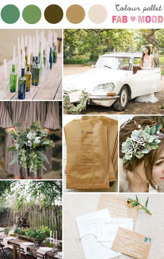 Rustic Wedding Mood Board...wine bottles and candles