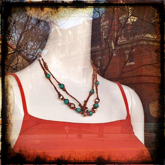 Turquoise Handmade Necklace @ Colorado Co-op