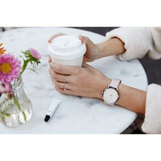Before you start your day, remember to take a moment for yourself.   #goodmorning #tgif #friday #weekend #coffee #flowers #pink #pinkwatch #armcandy #ellphotography #rosefield #rosefieldwatches #amsterdam #newyork #nyc