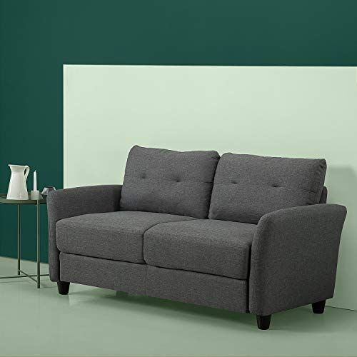 New Zinus Ricardo Contemporary Upholstered 62 2 Inch Sofa Couch