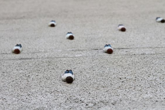 Cement Eclipse by Isaac Cordal for MUU