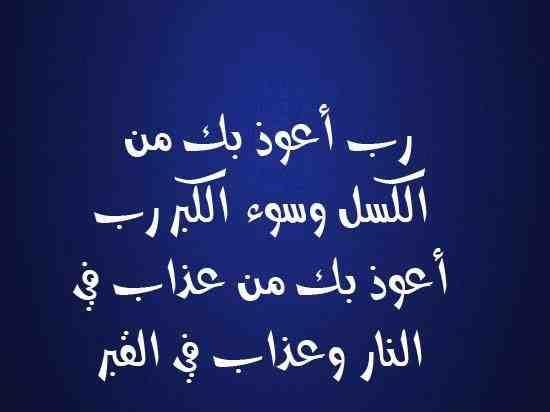 رب أعوذ بك من الكسل وسوء الكبر رب أعوذ بك من عذاب في النار وعذاب في القبر دعاء Islamic Quotes Quotes Arabic Calligraphy