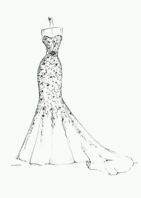 Pin By Nicooleelago On Fashion Illustration Wedding Dress Drawings Wedding Dress Sketches Fashion Drawing Dresses