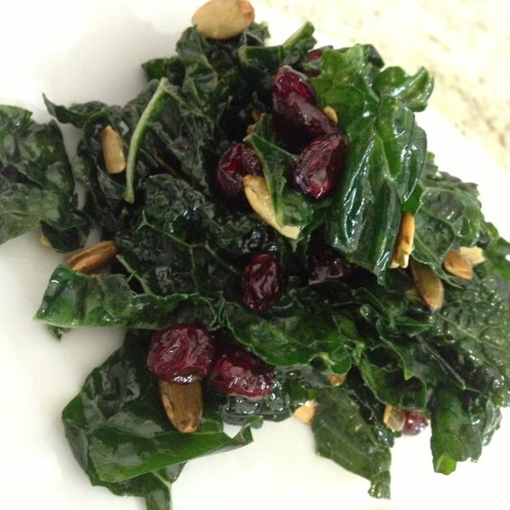 Kale Salad with Dried Cranberries and Pepitas | Dried Cranberries ...