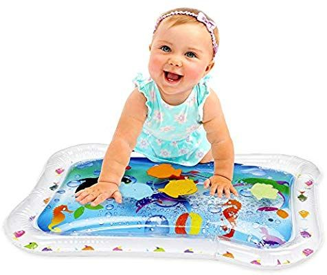 Amazon Com Kleeger Inflatable Baby Water Mat Fun Activity Play Center For Children And Infants Toys Games Water Play Mat Baby Play Mat