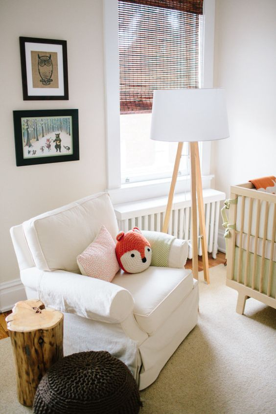 neutral nurseries nurseries and fox pillow on pinterest