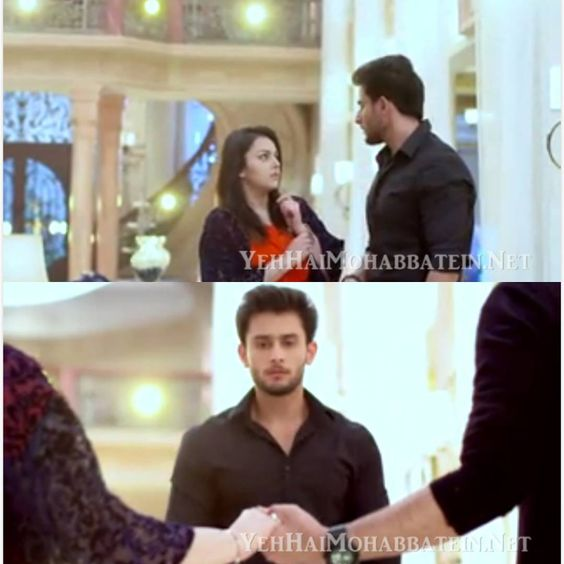 first he was angry than he got jealous  #ishqbaaaz