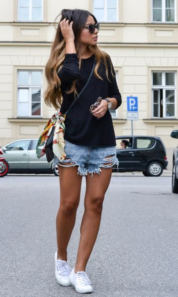 Look Destroyed Jeans: Shorts: