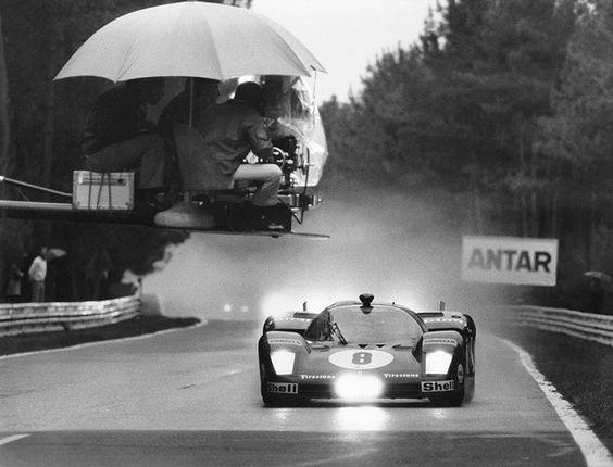 Filming a Ferrari 512S in the rain  (Source: motorsportworld.tv)