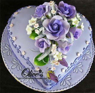 Pretty heart cake