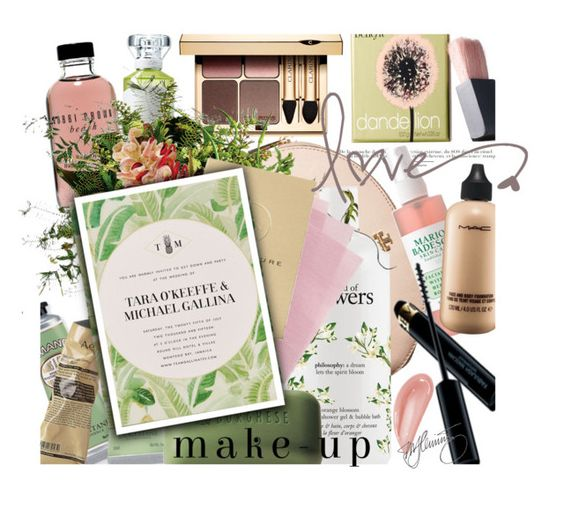 """destination wedding.makeup"" by mercimasada ❤ liked on Polyvore featuring beauty, Tory Burch, Mario Badescu Skin Care, Maison Margiela, L'Occitane, Aesop, Bobbi Brown Cosmetics, Benefit, Revlon and philosophy"