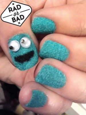 Cookie Monster Nails. It's a Don't.!