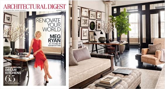 Get The Look of Meg Ryanu0027s NYC Loft Lofts, Architectural digest