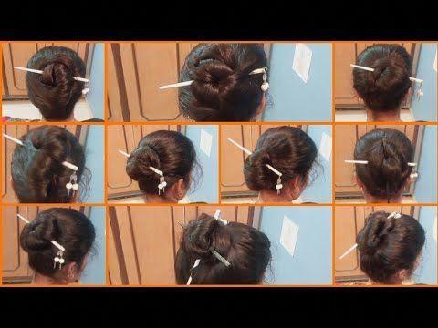 10 Bun Hairstyle With Chinese Bun Stick How To Use Bun Stick Hairsty Longhairstylestips Bun Hairstyles Hair Bun Tutorial Chinese Bun