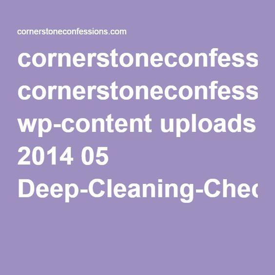 cornerstoneconfessions.com wp-content uploads 2014 05 Deep-Cleaning-Checklist.pdf