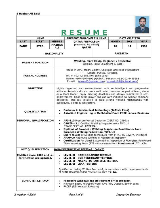 resume sle resume and welding on