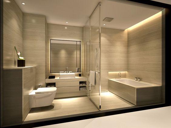 Armani hotel bathroom colores e iluminaci n ba o - Iluminacion cuarto de bano ...