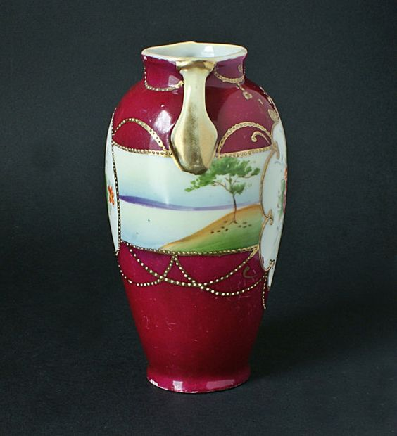 Nippon China Kinjo Ware Rose Vase Hand by redruthcollectables